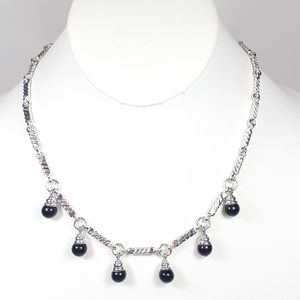 Napier Necklace Silver & Black